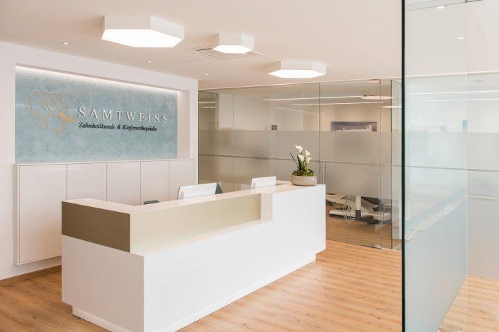 Zahnarztpraxis Samtweiss Praxis Empfang